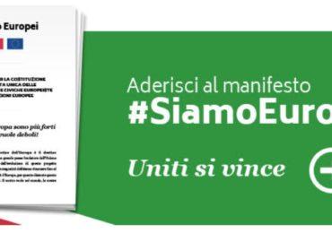 """Manifesto """"Siamo Europei"""" proposto da Carlo Calenda."""