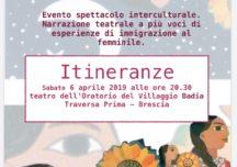 Itineranze: evento spettacolo interculturale