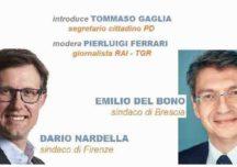 Sindaci per la democrazia: Dario Nardella a BS con Emilio Del Bono