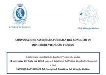"""Convocazione Assemblea pubblica – Consiglio di Quartiere del """"Villaggio Violino"""""""
