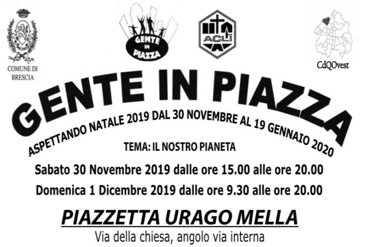 GENTE IN PIAZZA - aspettando NATALE 2019 - dal 30 Novembre al 19 Gennaio 2020