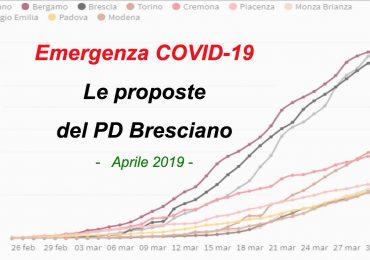 Newsletter n. 29: Emergenza COVID - Le proposte del PD Bresciano