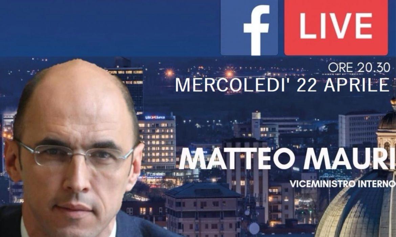 streaming con il vice ministro dell'Interno MATTEO MAURI